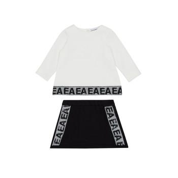 Odjeća Djevojčica Dječji kompleti Emporio Armani 6HEV08-3J3PZ-0101 Bijela / Crna
