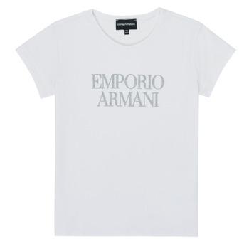 Odjeća Djevojčica Majice kratkih rukava Emporio Armani 8N3T03-3J08Z-0100 Bijela