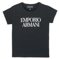 Odjeća Djevojčica Majice kratkih rukava Emporio Armani 8N3T03-3J08Z-0999 Crna