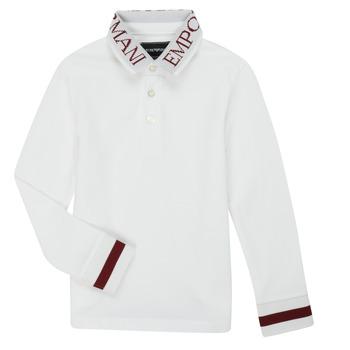 Odjeća Dječak  Polo majice dugih rukava Emporio Armani 6H4FJ4-1J0SZ-0101 Bijela