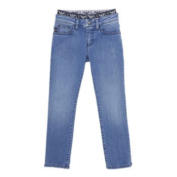 Odjeća Dječak  Slim traperice Emporio Armani 6H4J17-4D29Z-0942 Blue