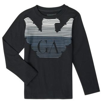 Odjeća Dječak  Majice dugih rukava Emporio Armani 6H4T17-1J00Z-0999 Crna