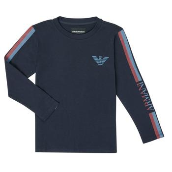 Odjeća Dječak  Majice dugih rukava Emporio Armani 6H4TJD-1J00Z-0920 Blue