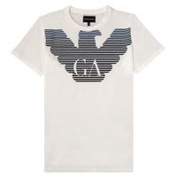 Odjeća Dječak  Majice kratkih rukava Emporio Armani 6H4TQ7-1J00Z-0101 Bijela