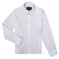 Odjeća Dječak  Košulje dugih rukava Emporio Armani 8N4CJ0-1N06Z-0100 Bijela