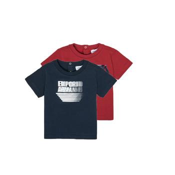 Odjeća Dječak  Majice kratkih rukava Emporio Armani 6HHD22-4J09Z-0353 Multicolour