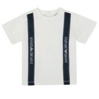 Odjeća Dječak  Majice kratkih rukava Emporio Armani 6HHTG4-1JTUZ-0101 Bijela