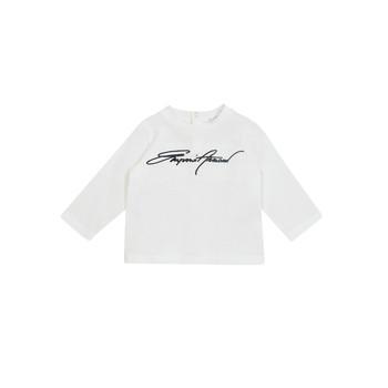 Odjeća Dječak  Majice dugih rukava Emporio Armani 6HHTJN-1JTUZ-0101 Bijela