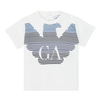 Odjeća Dječak  Majice kratkih rukava Emporio Armani 6HHTQ7-1J00Z-0101 Bijela