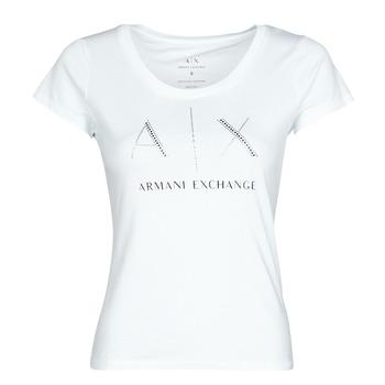 Odjeća Žene  Majice kratkih rukava Armani Exchange 8NYT83 Bijela