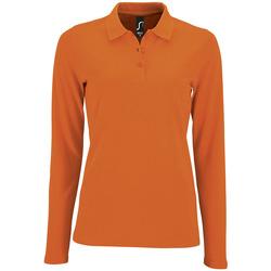 Odjeća Žene  Polo majice dugih rukava Sols PERFECT LSL COLORS WOMEN Naranja