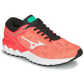 Obuća Žene  Running/Trail Mizuno WAVE SKY RISE Koraljna