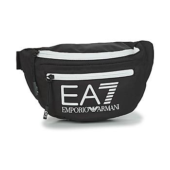 Torbe Pojasne torbice Emporio Armani EA7 TRAIN CORE U SLING BAG Crna / Bijela