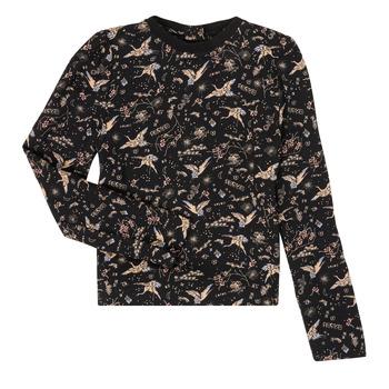 Odjeća Djevojčica Majice dugih rukava Ikks XR12052 Crna