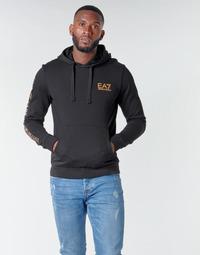 Odjeća Muškarci  Sportske majice Emporio Armani EA7 TRAIN LOGO SERIES M HOODIE RN COFT Crna