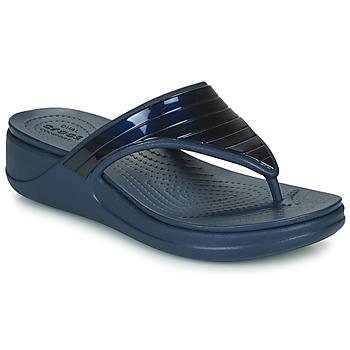 Obuća Žene  Japanke Crocs CROCSMONTEREYMETALLICSTPWGFPW Blue