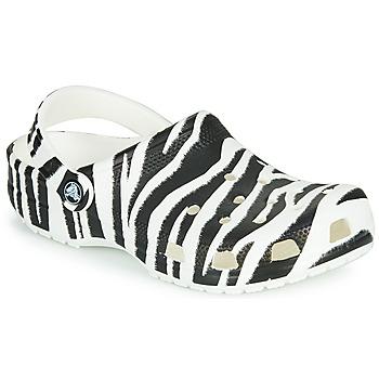 Obuća Žene  Klompe Crocs CLASSIC ANIMAL PRINT CLOG Zebra