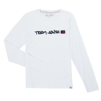 Odjeća Dječak  Majice dugih rukava Teddy Smith CLAP Bijela