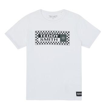 Odjeća Dječak  Majice kratkih rukava Teddy Smith VANY Bijela