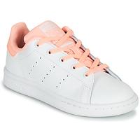 Obuća Djevojčica Niske tenisice adidas Originals STAN SMITH C Bijela / Ružičasta