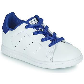 Obuća Dječak  Niske tenisice adidas Originals STAN SMITH EL I Bijela / Blue