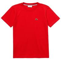 Odjeća Dječak  Majice kratkih rukava Lacoste TJ1442-F8M-J Red