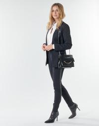 Odjeća Žene  Hlače s pet džepova Karl Lagerfeld PUNTO PANTS W/ LOGO TAPE Crna