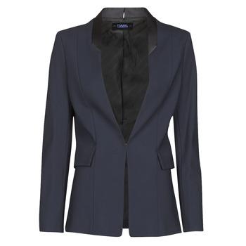Odjeća Žene  Jakne i sakoi Karl Lagerfeld PUNTO JACKET W/ SATIN LAPEL Crna