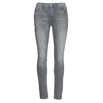 Odjeća Žene  Slim traperice Karl Lagerfeld SKINNY DENIMS W/ CHAIN Siva