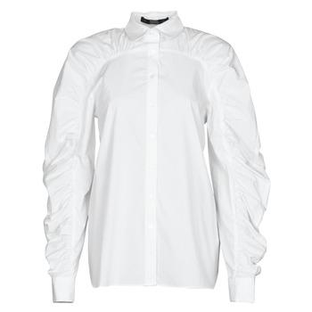 Odjeća Žene  Košulje i bluze Karl Lagerfeld POPLIN BLOUSE W/ GATHERING Bijela