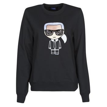 Odjeća Žene  Sportske majice Karl Lagerfeld IKONIK KARL SWEATSHIRT Crna