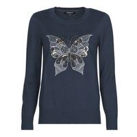Odjeća Žene  Puloveri Desigual BUTTERFLY Blue