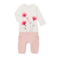 Odjeća Djevojčica Dječji kompleti Catimini CR36001-11 Bijela / Ružičasta