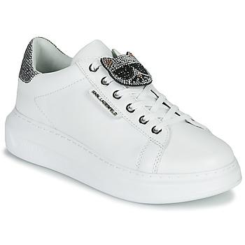 Obuća Žene  Niske tenisice Karl Lagerfeld KAPRI IKONIC TWIN LO LACE Bijela / Leather / Srebrna