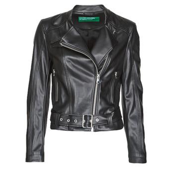Odjeća Žene  Kožne i sintetičke jakne Benetton 2ALB53673 Crna
