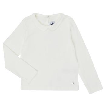 Odjeća Djevojčica Majice dugih rukava Petit Bateau LOVING Bijela