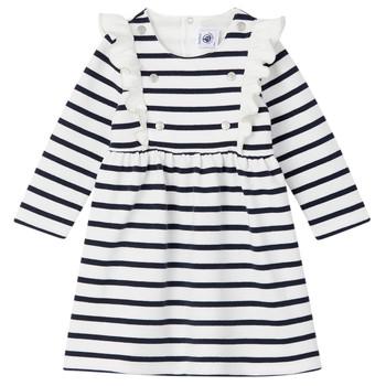 Odjeća Djevojčica Kratke haljine Petit Bateau LEVRIER Bijela