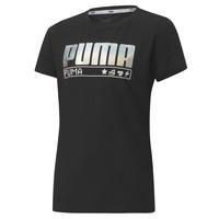 Odjeća Djevojčica Majice kratkih rukava Puma ALPHA TEE 165 Crna