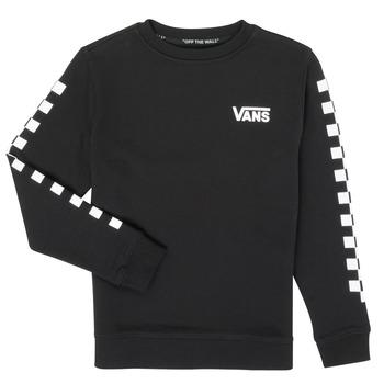 Odjeća Dječak  Sportske majice Vans EXPOSITION CHECK CREW Crna