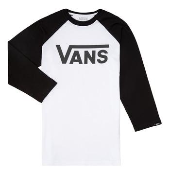 Odjeća Dječak  Majice dugih rukava Vans VANS CLASSIC RAGLAN Crna / Bijela