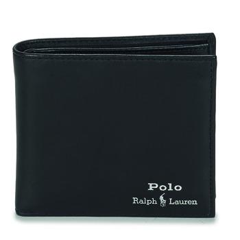 Torbe Muškarci  Novčanici Polo Ralph Lauren GLD FL BFC-WALLET-SMOOTH LEATHER Crna
