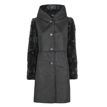 Odjeća Žene  Kaputi Lauren Ralph Lauren COMBO FX SH-COAT Crna