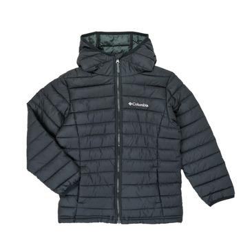 Odjeća Dječak  Pernate jakne Columbia POWDER LITE HOODED JACKET Crna