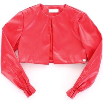 Odjeća Djevojčica Kožne i sintetičke jakne Byblos Blu BJ14994 Rosso
