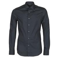 Odjeća Muškarci  Košulje dugih rukava G-Star Raw DRESSED SUPER SLIM SHIRT LS Crna