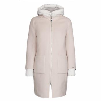 Odjeća Žene  Kaputi Oakwood LILIANA BI Ivory / Siva