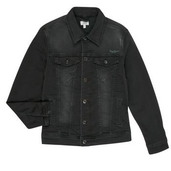 Odjeća Dječak  Traper jakne Pepe jeans LEGENDARY Crna