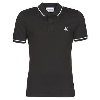 Odjeća Muškarci  Polo majice kratkih rukava Calvin Klein Jeans TIPPING SLIM POLO Crna