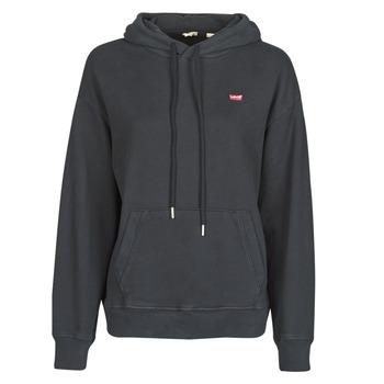 Odjeća Žene  Sportske majice Levi's STANDARD HOODIE Crna