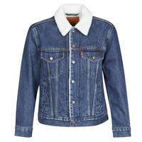 Odjeća Žene  Traper jakne Levi's EX-BF SHERPA TRUCKER Blue